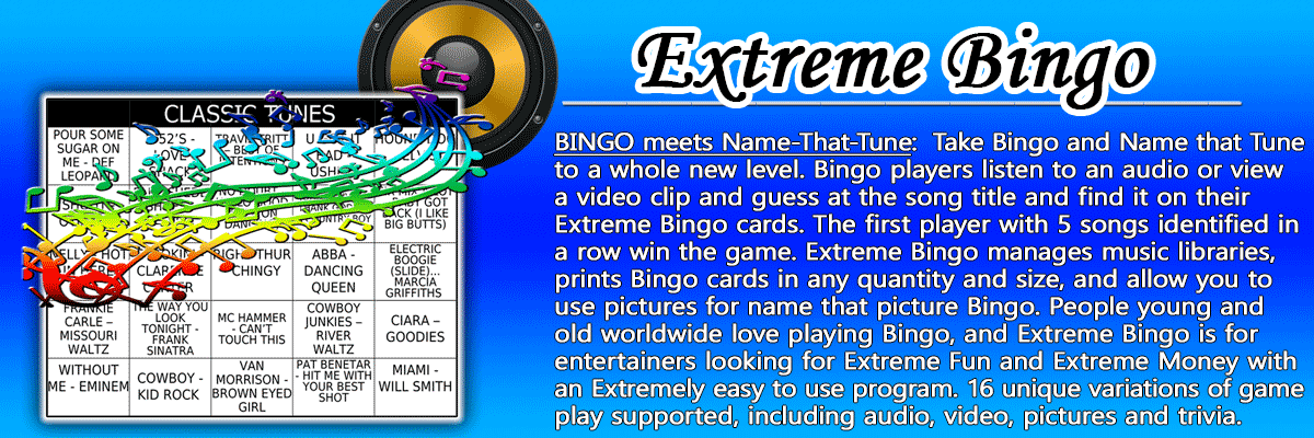 Music Bingo Software