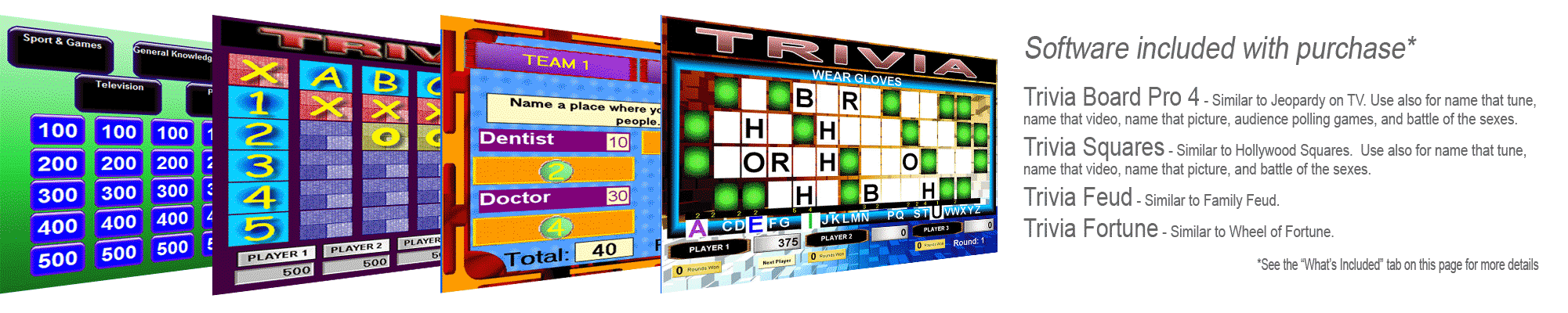 Trivia Software Games