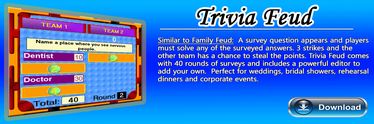 Family Feud Software Game
