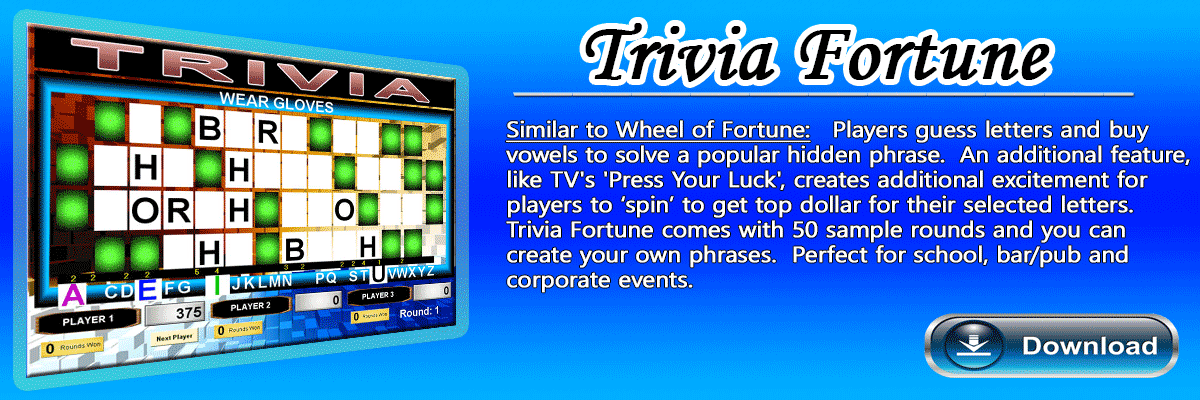 Wheel of Fortune Software Game
