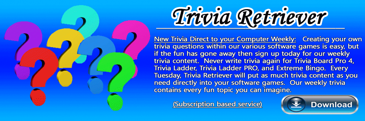 Weekly Trivia Subscription