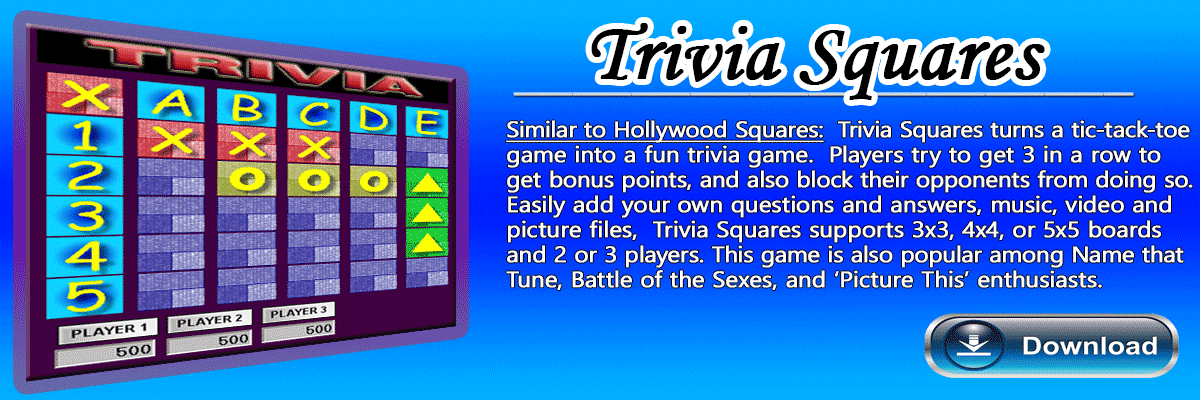 Hollywood Squares Software Game