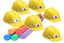 CLOBBER - Wireless Buzzer Hard Hat Trivia Game Hover
