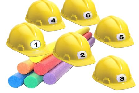 CLOBBER - Wireless Buzzer Hard Hat Trivia Game
