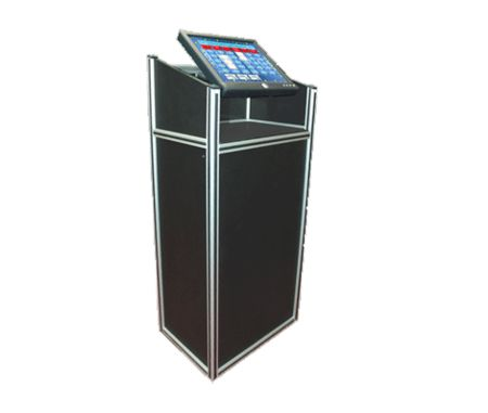Host Podium - With Touch Screen Monitor